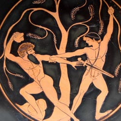 myths about Theseus -The Pine-Bender of Corinth